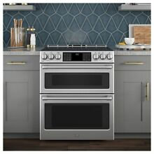 GE Cafe Series 30  Slide In Front Control Induction and Convection Double Oven