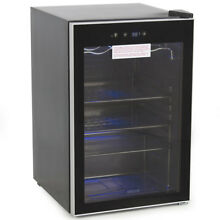 Beverage Wine Cooler Chiller Rack Mini Refrigerator Digital Touch LED Beer Soda