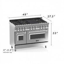 ZLINE 48 in  6 cu  ft 8 Gas Burner Electric Oven Range in Stainless Steel