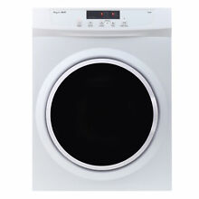 3 5 cu ft Compact Electric Standard Dryer With Refresh Function  Sensor Dry
