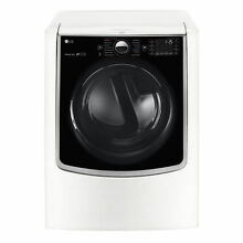 LG DLGX9001W 9 cubic Foot MEGA Capacity TurboSteam Gas Dryer with On Door
