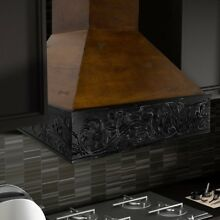 ZLINE 42 in  Wooden Wall Mount Range Hood in Antigua and Walnut   Includes 1200