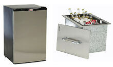 Bull Outdoor Stainless Steel Outdoor Refrigerator   Beverage Ice Chest Cooler