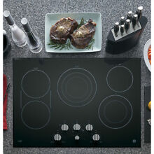 GE Cafe Series 30 inch Built in Knob Control Electric Cooktop