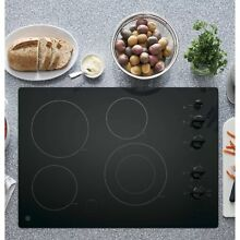 GE 30 inch Built in Knob Control Electric Cooktop Black