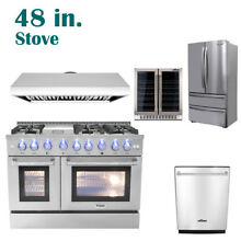 48  Thor Kitchen Cooking Gas Range Stoves   Dishwasher  Range Hood  Wine Cooler
