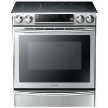 Samsung Smooth Surface 5 Element SlideIn Convection Electric Range   NE58F9710WS
