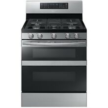 Samsung Flex Duo 5 Burner Freestanding Convection Gas Range   NX58M6850SS