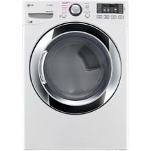 LG 7 4 cu ft Stackable Electric Dryer  White  ENERGY STAR   DLEX3370W
