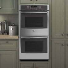 GE 27 inch Stainless Steel Built in Double Convection Wall Oven