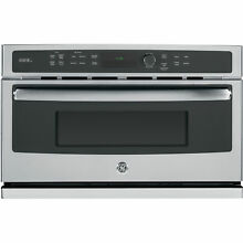 GE Stainless Steel Electric Speed Oven with 1 7 Cubic Feet Capacity
