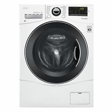 LG WM1388HW 2 3 cu  ft  Capacity 24  Compact Front Load Washer w  NFC Tag On in