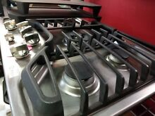 GE STAINLESS 5 SEAL BURNER GAS COOK TOP   PGP959SETSS