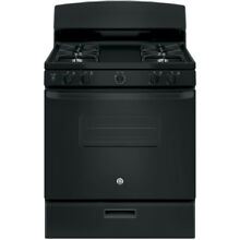 GE Freestanding 4 8 cu ft Gas Range  Black    JGBS10DEKBB