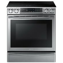 Samsung Virtual Flame 4 Elem Convection Induction Range   NE58K9852WG