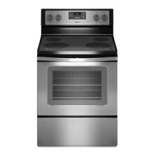 Whirlpool Smooth Surface Freestanding 4 4 8 cu ft Electric Range   WFE320M0ES