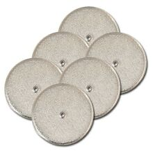 Aluminum Round Range Hood Filter  9 l 2  Rd x 3 32  With Center Hole  6 Pack