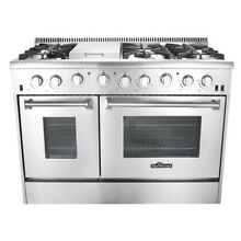 Kitchen 48  Professional Stainless Steel 6 Sealed Burners Gas Range HRG4808U
