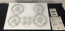 Jenn Air Gas Cooktop Stove Top Range 34  in White CCG2420W Ships FAST SuperClean
