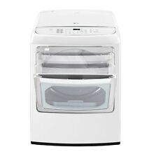 LG DLGY1902WE 7 3 cu  ft  Ultra Large Capacity Front Control Gas Dryer with