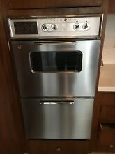 Vintage Mid Century 26    Stainless Steel   General Electric Double Wall Oven
