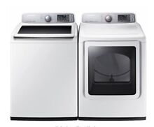 Samsungs Top Load Washer with 5 0 cu  ft And 7 4 cu  ft  Electric Dryer
