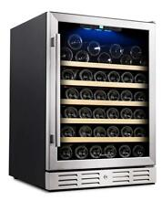 Kalamera 24  Wine Cooler 54 Bottle Single Zone Touch Control Built in with