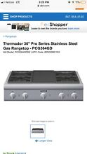 NEW Thermador 36  Pro Series Stainless Steel Gas Rangetop