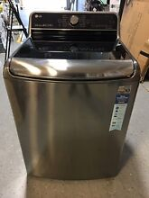 LG Graphite Steel WT7700HVA 5 7 Cu Ft  Mega Capacity Top Load Washer w TurboWash