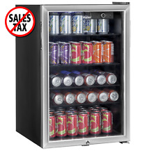 Haier 150 Can Beverage Cooler Small Beverage Can Refrigerator Mini Fridge NEW