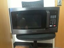 Toshiba EM925A5A BS Microwave Oven LED Lighting  0 9 Cu ft  Black Stainless