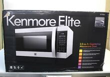 NIP KENMORE Elite 79393 2 2 Cubic Foot Stainless Steel Countertop Microwave