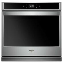 WHIRLPOOL 30  Self cleaning Single Electric Wall Oven  EasyCare Stainless Steel