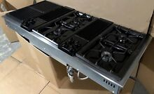 CLEAN Jenn Air CVG4380B 3 Bay 48  Modular Stainless black Gas Downdraft Cooktop