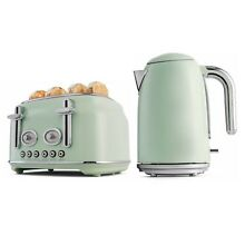 Combo Retro Kettle 1 7L   Toaster 4 Slice Set Cordless Automatic Boiler Tea Jug