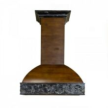 ZLINE 30  SOLID WOOD 2TONE WALNUT WALL MOUNT RANGE HOOD 393AR 30