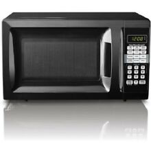 New Black Kitchen Dorm Microwave Oven 0 7 Cu Ft 10 Power Levels Child Safety