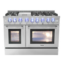 48  Gas Range Thor Double Oven Stainless Steel Griddle 6 Burner Updates