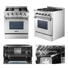 30  Thor Kitchen HRD3088U Dual Fuel Range Professional Stainless Steel