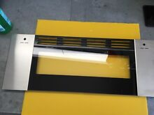 W10323327 WHIRLPOOL OVEN DOOR STAINLESS UPPER GGE388LXS00 USED