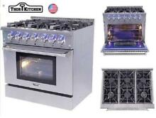 36 inch Thor Kitchen Professional Gas Range Stove Oven 6 Burners Cooker HRG3618U