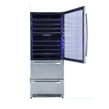 Thor Professional HWC2404U 30  Built In 128 Bottle Wine Cooler 3 Zones