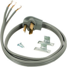 Certified Appliance Accessories 90 1010 3 Wire Open Eyelet 30 Amp Dryer Cord  4f