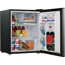 2 7 Cu Ft Single Door Mini Fridge Stainless Steel Reversible Chiller Thermostat