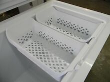Get  2  Brand New Frigidaire 24 1 2  White Freezer Storage Baskets  Size  1