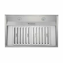 KOBE IN26 SQB 1100 5A Deluxe 36 or 48 inch Built In  Insert Range Hood  6 Speed