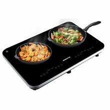Ovente BG62B Portable Ceramic Double Induction Cooktop  Black