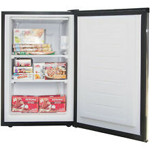 Ultra Durable Stainless Steel Compact Upright Mini Freezer  3 Cu  Ft  Capacity