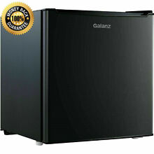 Mini Small Fridge Compact Refrigerator Black Galanz Kitchen Bedrroom 1 7 CU FT