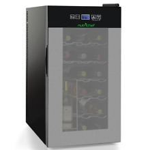Nutrichef Thermoelectric 18 Bottle Wine Cooler Refrigerator   Red  White    Top